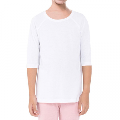 Girls' Quarter Sleeve Raglan Tee