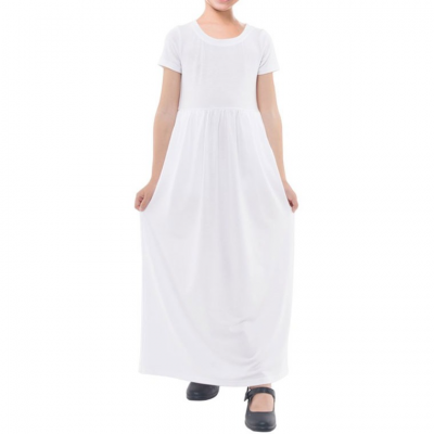 Girls' Short Sleeve Maxi Dress