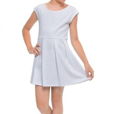 Girls' Cap Sleeve Dress