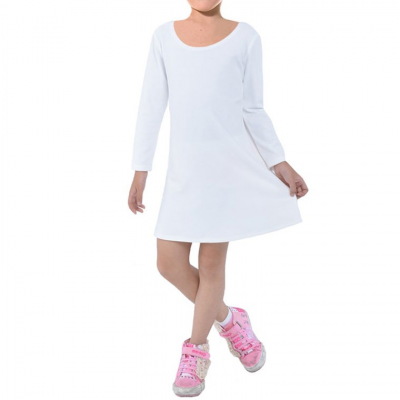 Girls' Long Sleeve Velvet Dress