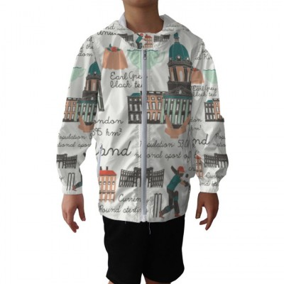 Boy's Hooded Windbreaker