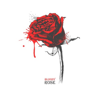 red bloody rose