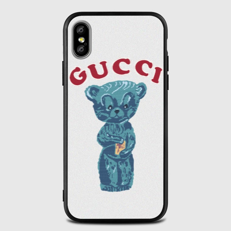 meet 6251c 0a482 Little bear with GUCCI iPhone X Case -, Black