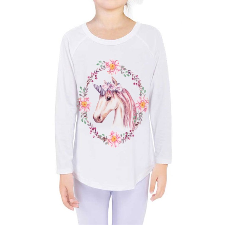 Girls' Long Sleeve Tee-front